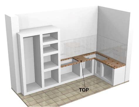 struttura cucina in muratura top con fori per cucine in muratura