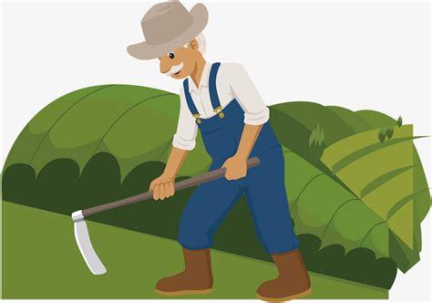Farmer Farming Labor Cartoon Vector Material Farming