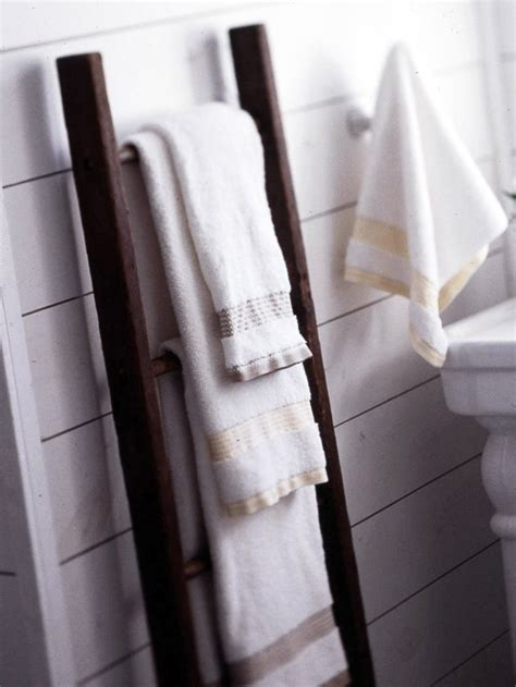 Use A Ladder To Display Your Towels Displaying Towels In Bathroom Ladder Storage