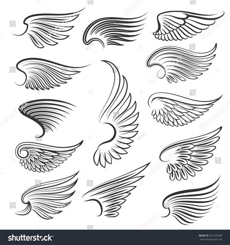 Komik Seriesyour White Wings Your Wings vector wings isolated on white background stock vector 551749789