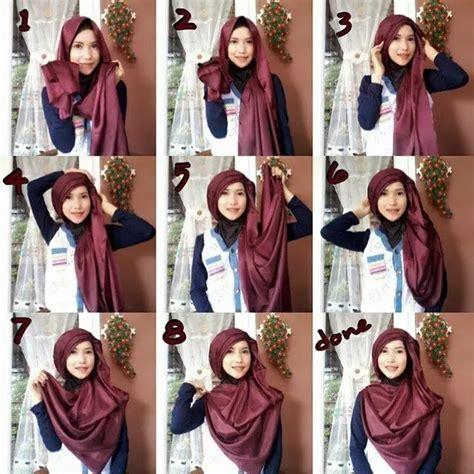 tutorial hijab segi empat bahan satin 10 tutorial hijab menutup dada yang sopan anggun dan
