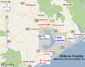map of jacksonville carolina jacksonville nc map