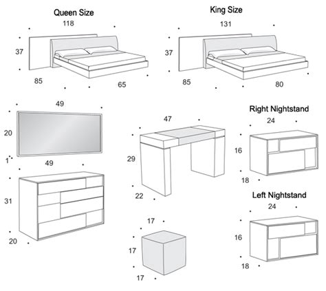 bedroom furniture measurements standard bedroom furniture sizes images