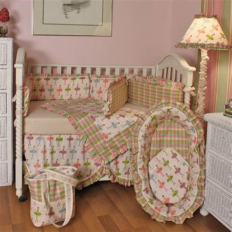 Ballerina Crib Bedding Set By Hoohobbers Rosenberryrooms Com Ballerina Baby Bedding Crib Sets