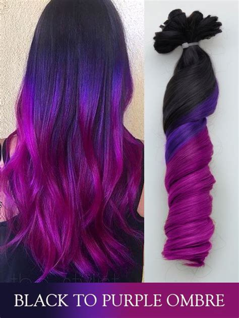 colorful extensions new colorful extensions of black to purple ombre it