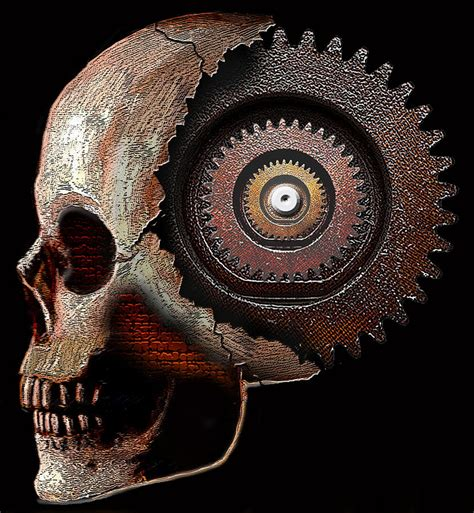 gear head painting by david w johnson