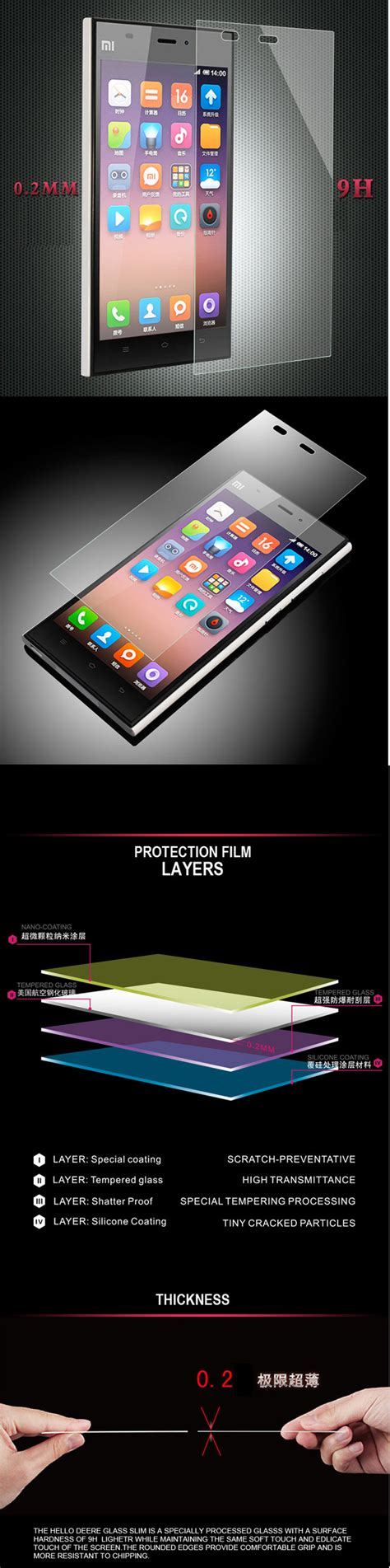 Tempered Glass Xiaomi 4i Mi4i Xpro Screen Protector Original premium tempered glass screen protector screen guard for