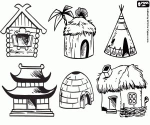 Coloring Pages Of Homes Around The World | around the world coloring pages printable games