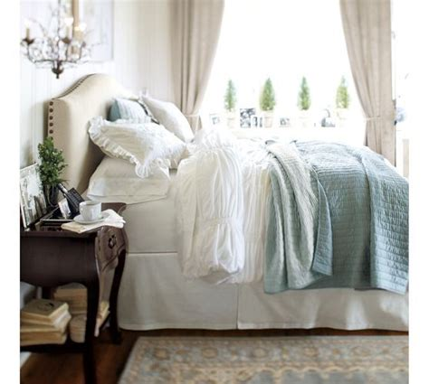 pottery barn raleigh bed raleigh upholstered nailhead camelback bed headboard