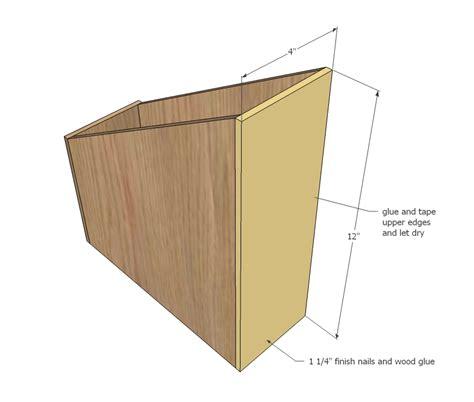 white wood magazine file diy projects