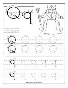 free printable worksheet letter q for your child to learn