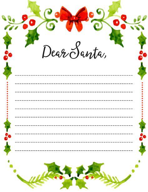 dear santa fill letter template