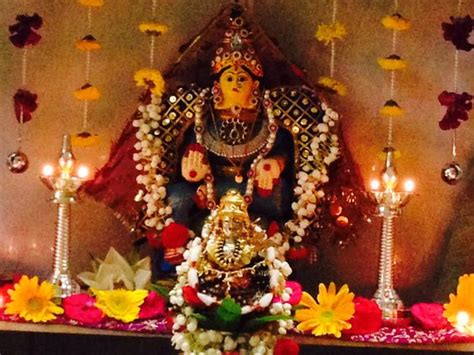 Decoration Of Lakshmi Pooja by Home On