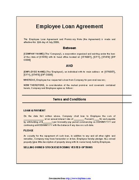 Employee Loan Document