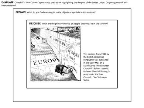why was the iron curtain a problem iron curtain speech churchill by adam1982 teaching
