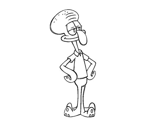 spongebob squarepants character squidward coloring pages