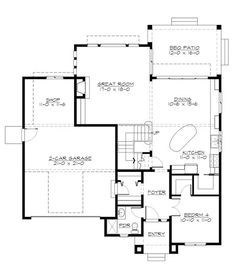 Craftsman House Plan With 4 Bedrooms And 3 5 Baths Plan 5572 Dfd House Plans