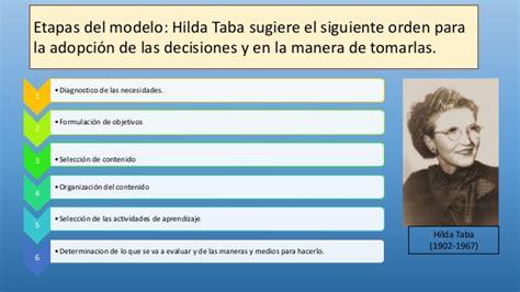 Modelos Curriculares Clasicos Hilda Taba Modelos Curriculares