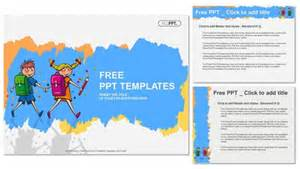 Free Powerpoint Templates Children by School Children Students Boy And