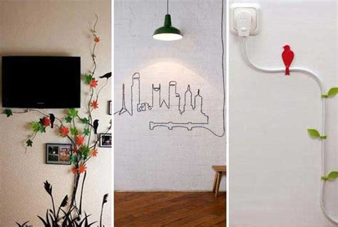 Creative Ideas To Decorate Home by 20 Creative Diy Ideas To Hide The Wires In The Wall Room