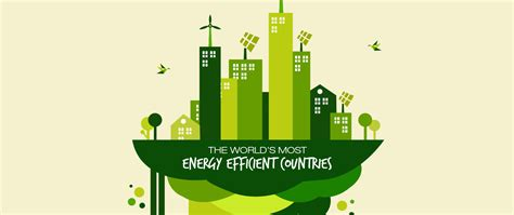 energy efficient infographic the greenest countries in the world and how