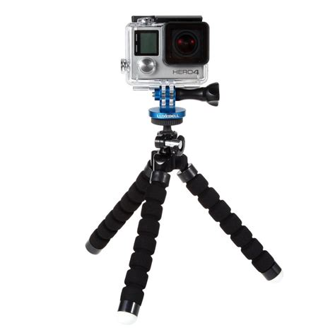 luxebell aluminum tripod mount adapter monopod for gopro 4 session black silver