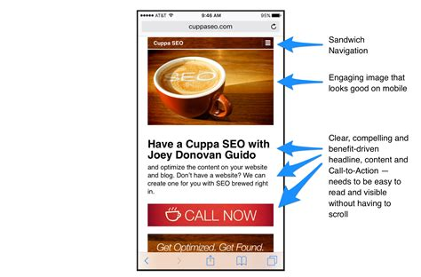 3 mobile homepage understanding marketing ux cuppa seo