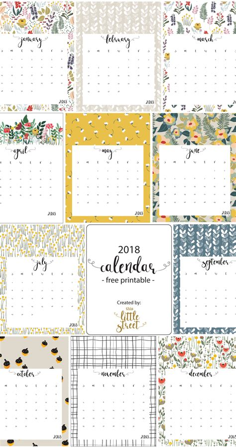 2016 calendar free printable this little street printable free 2017 calendar this little street
