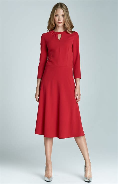 robe de cocktail 3 4 sleeves flared cocktail dress nis68r