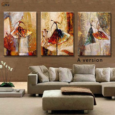 wall paintings for living room ballet dancer picture hand painted modern abstract oil
