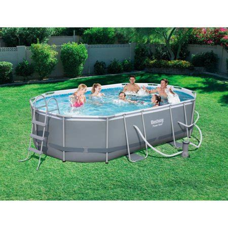bestway power steel      oval frame swimming