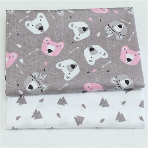 diy printable fabric sheets cartoon printed twill cotton fabric for diy sewing tissue