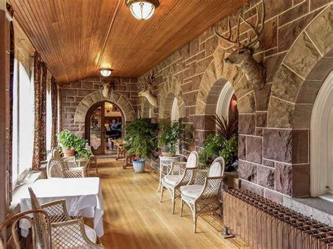 english tudor style american castle   rocky mountains