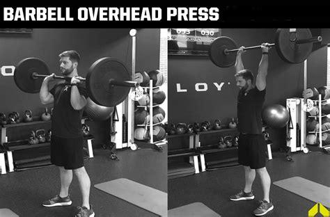 barbell overhead press weighteasylosscom
