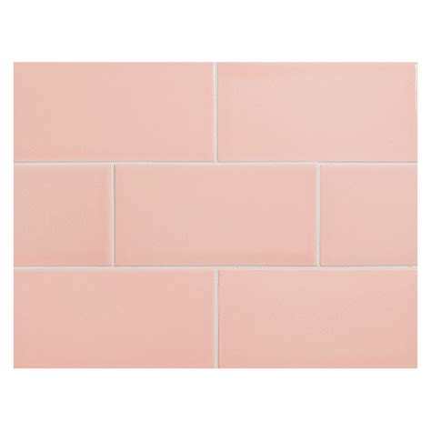 Glass Subway Tile Kitchen Backsplash vermeere ceramic tile pale pink gloss 3 quot x 6 quot subway tile