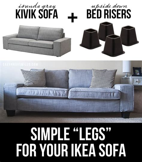 kivik sofa legs best 25 bed risers ideas on pinterest raised beds
