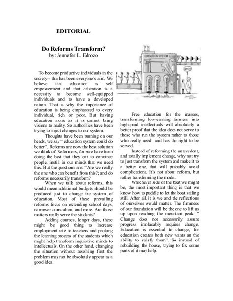 newspaper editorial template sle editorial article