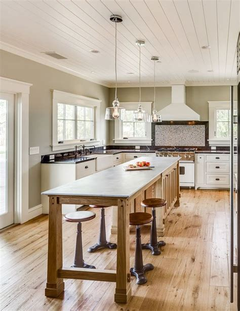 Rustic Kitchen Island With Stools by 15 Cool Kitchen Islands With Zones Shelterness