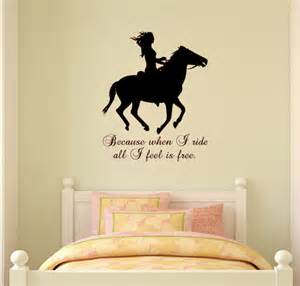 Wall Sticker Quotes For Bedrooms by Horse Wall Decal Horse Quote Sticker Wall Words Girls Teen