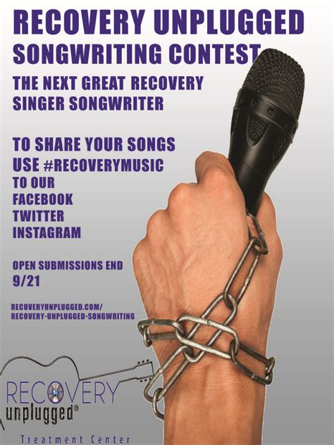 Recovery Unplugged Detox by Song Writing Contest Open To All By Recovery Unplugged