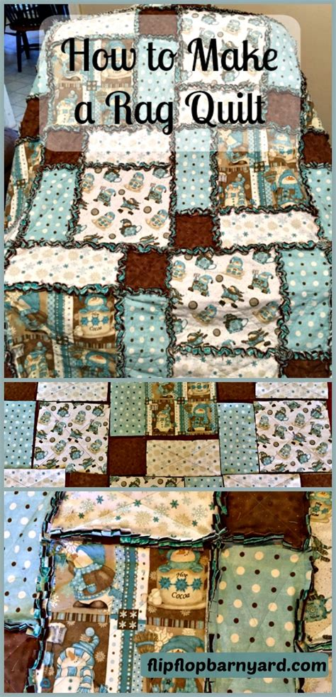 How To Make A Rag Quilt by How To Make A Rag Quilt The Flip Flop Barnyard