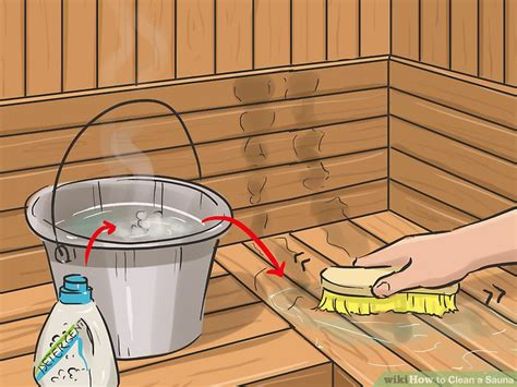 How Should You Stay In A Sauna To Detox by How To Clean A Sauna 10 Steps With Pictures Wikihow