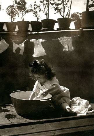 Wash Clothes In Bathtub by Vintage Photos Of Children Working At Home Vintage Everyday