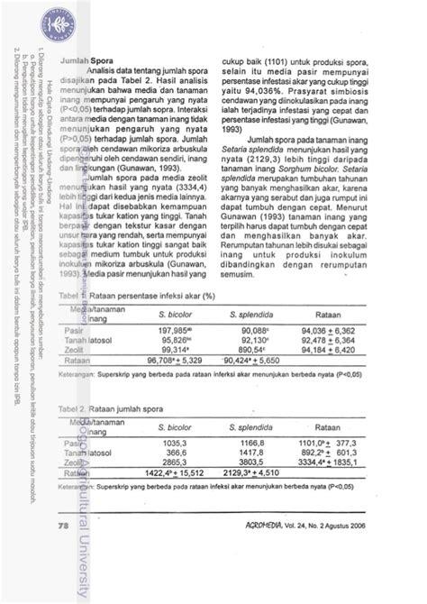 Pasir Zeolit Untuk Tanaman produksi massal cendawan mikoriza arbuskula pada media
