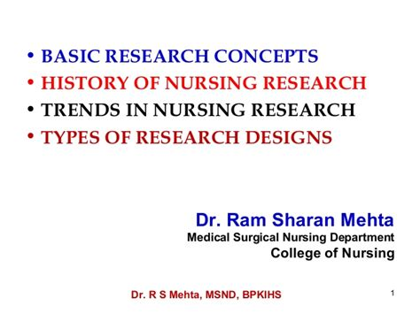 research design definition nursing b 11 12 basic research concepts history trends types