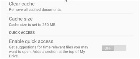 drive quick access how to disable google drive quot quick access quot in app and web