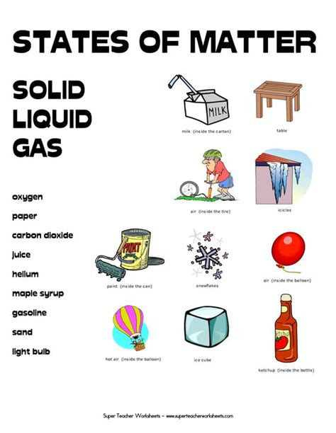 Matter Worksheets by States Of Matter Worksheets States Of Matter