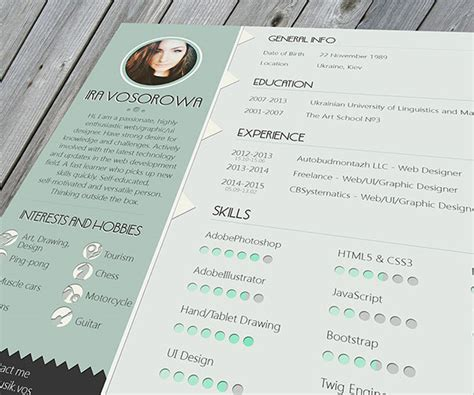 beautiful resume formats 50 beautiful free resume cv templates in ai indesign
