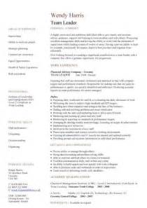 Technical Support Team Leader Sle Resume by Team Leader Resume Sle Resume Cv Cover Letter Choose Professional Technical Support Team