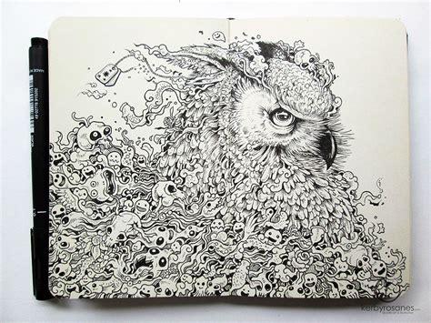 pen untuk doodle coretan pen terperinci terhebat karya kerby rosanes 17